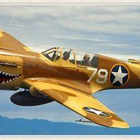 Living History Flying Day - P-40 Warhawk