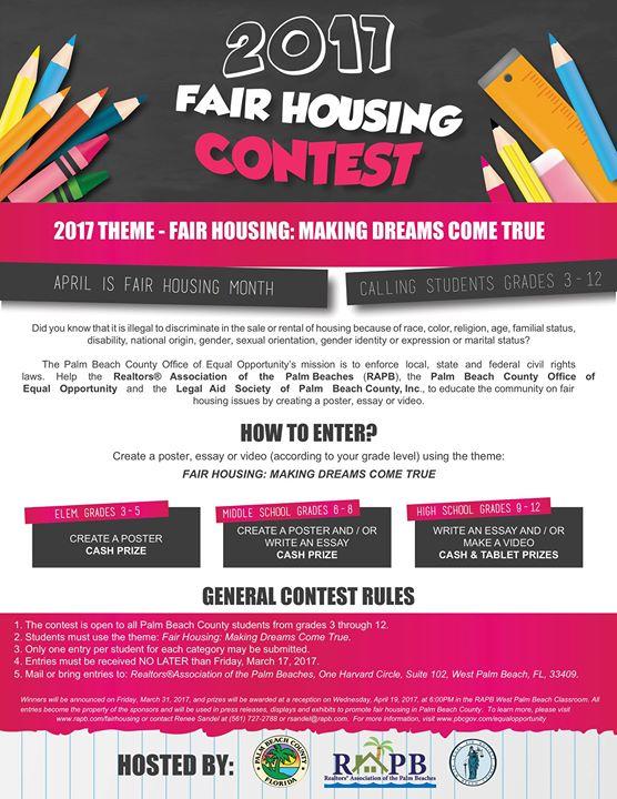 fair housing essay contest Bicentennial Essay Contest