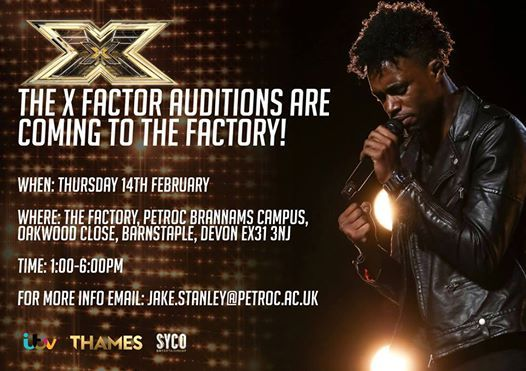 X Factor Auditions - The Factory Petroc - Barnstaple