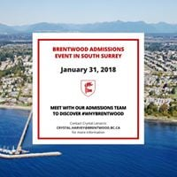 Brentwood South Surrey Admission Information Session choosetobe