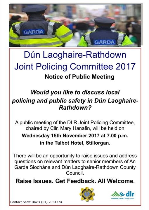 Public Meeting - Policing In Dun Laoghaire-Rathdown