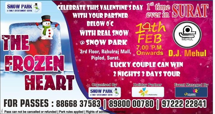 The Frozen Heart Valentines Day Celebration At Snow Park