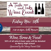 A Taste and Take Wine Event - Wine Tasting and Sale