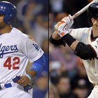Los Angeles Dodgers vs. San Francisco Giants at Los Angeles CA