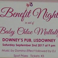 Benefit Night in aid of Baby Chloe Mullally