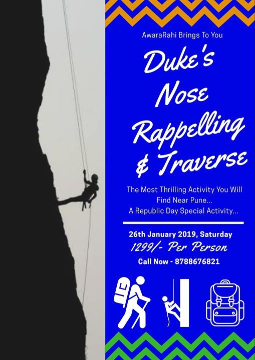 Dukes Nose Rappelling(300ft) & Traverse(1000ft)
