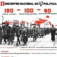 II Encontro Nacional de Filosofia Poltica da UFU.