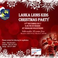 Lanka Lions Childrens Christmas Party 2017