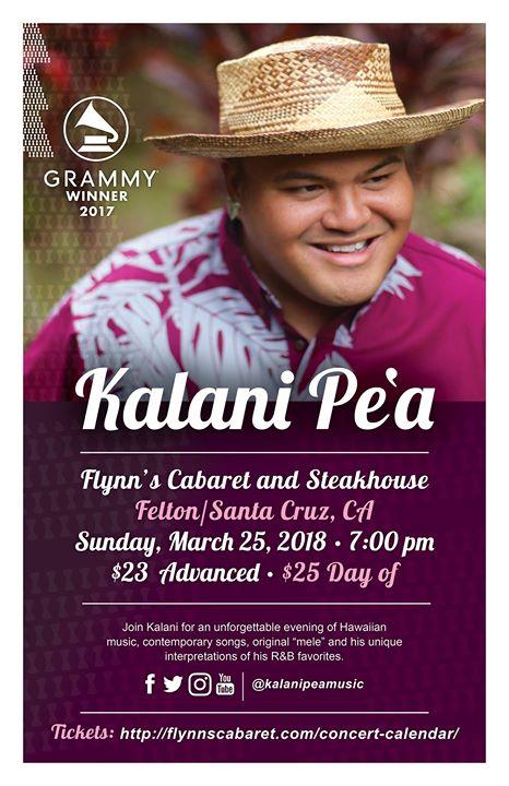 Grammy Winner Kalani Pea In Concert at Flynn's Cabaret and