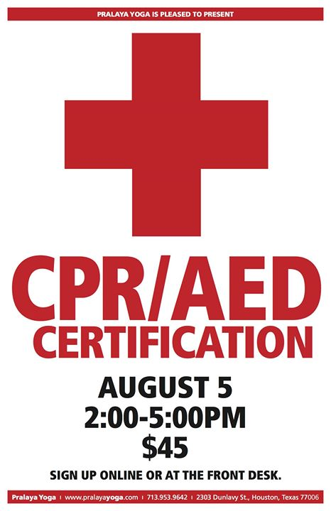 CPR AED Certification at Pralaya Yoga Studio, Houston