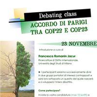 Debating Class Accordo di Parigi tra COP22 e COP23