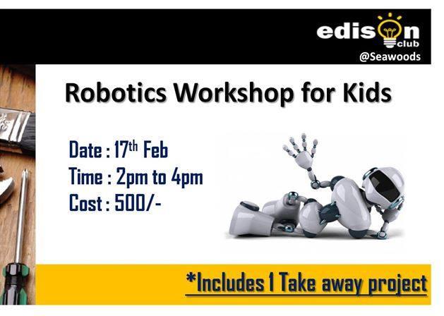 Robotics Workshop For Kids At Edison Club Seawoods Navi Mumbai