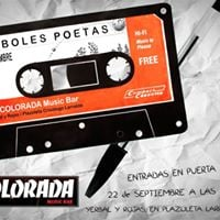 rboles Poetas en La Colorada Music Bar