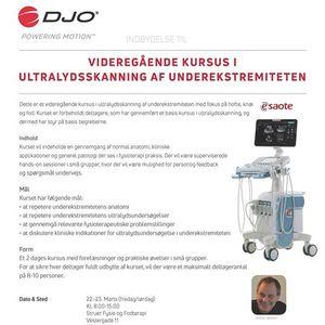 Videregende kursus i ultralydsskanning af underekstremiteten