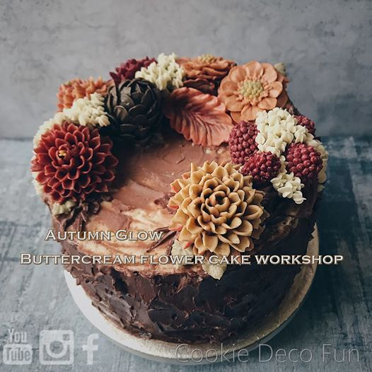 Buttercream flower cake workshop - Autumn Glow