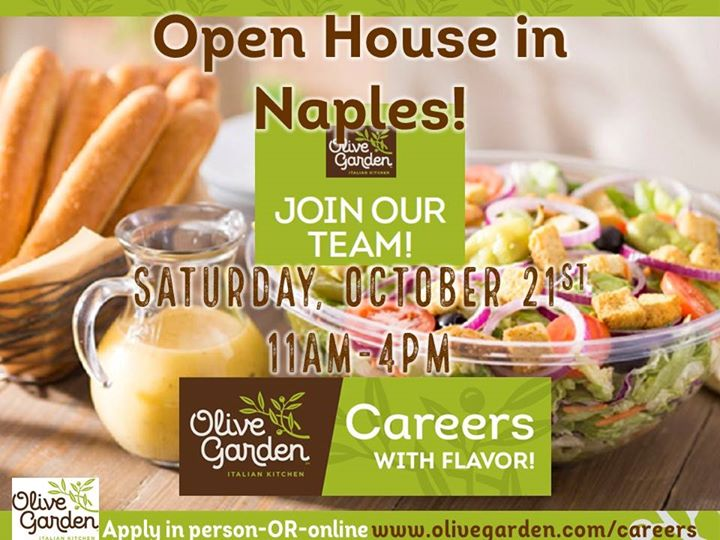 hiring open house in naples - Olive Garden Naples