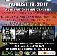 Cornwall Musicfest 2017 - The Barley and Hops Tour
