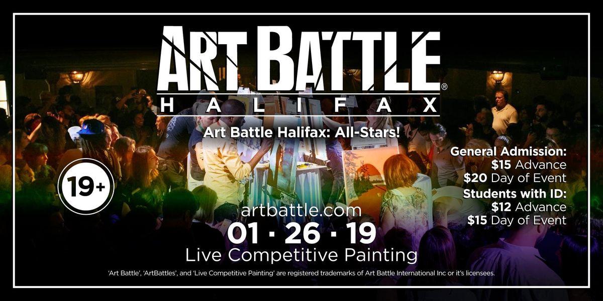 Art Battle Halifax All-Stars - January 26 2019