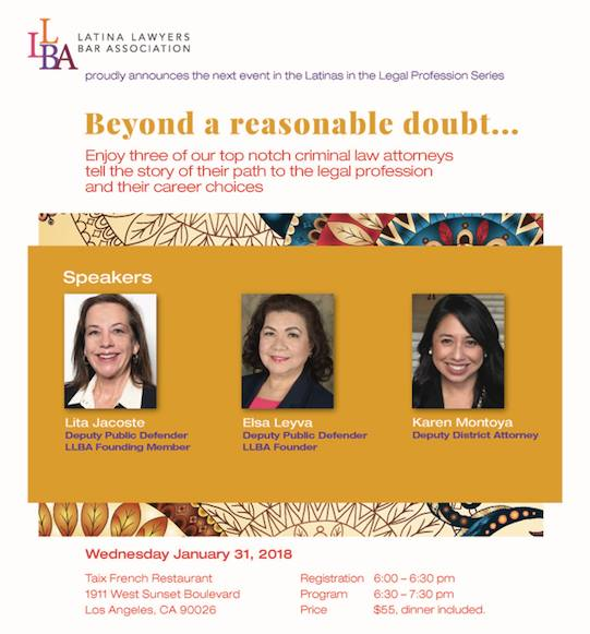 Latina Lawyers Bar Association  >> Beyond A Reasonable Doubt Latina Lawyers In Criminal Law At Taix