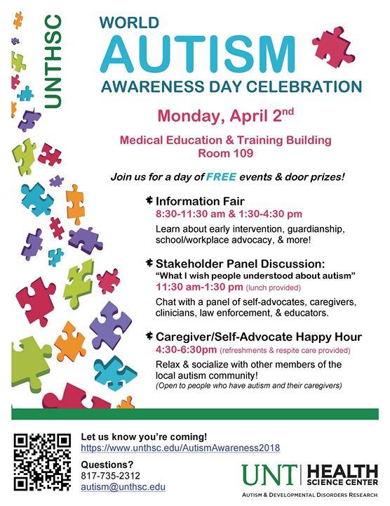 UNT HSC World Autism Awareness Day Celebration