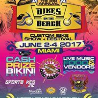 3rd Annual Bikes on the Beach Custom Bike Show &amp Festival