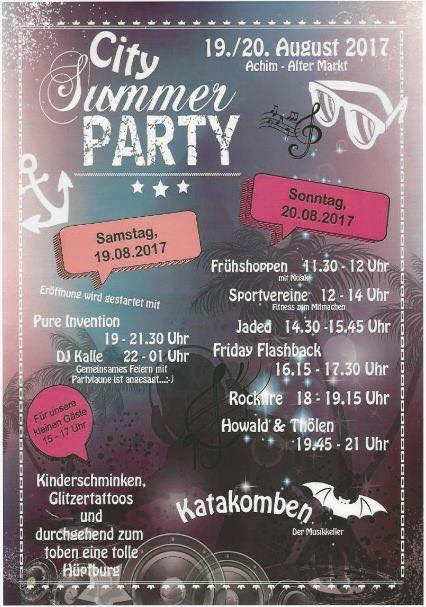 Pure Invention City Summer Party Achim At Achim Germany Achim