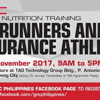 GNC Sports Nutrition Training for Runners and Endurance Athletes