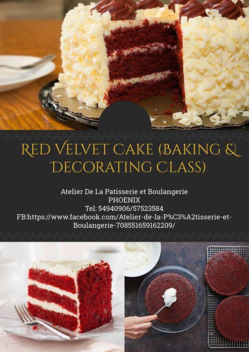 Red Velvet Cake Baking Decorating Class At Atelier De La