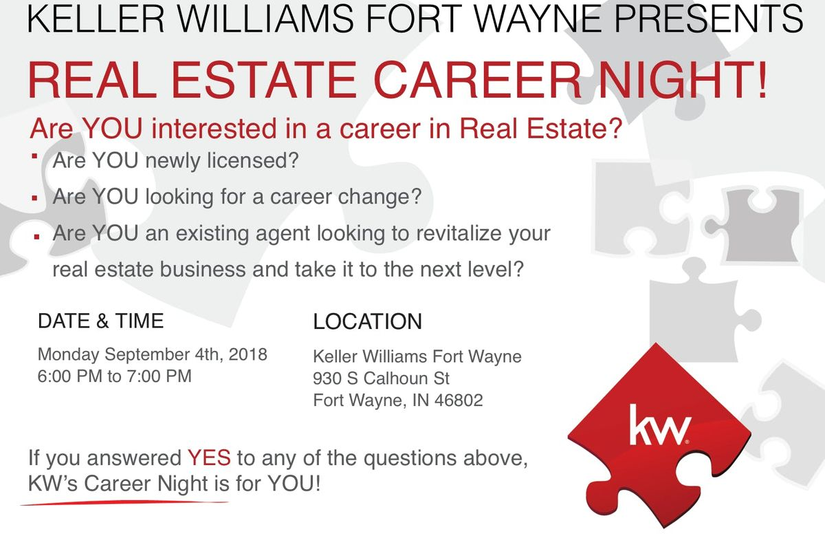 Real estate career night agent meet greet at keller williams real estate career night agent meet greet at keller williams fort wayne fort wayne m4hsunfo