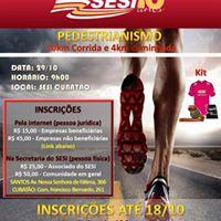 10km e 4km - Pedestrianismo do Jogos do SESI