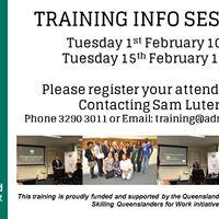 Training Info Session