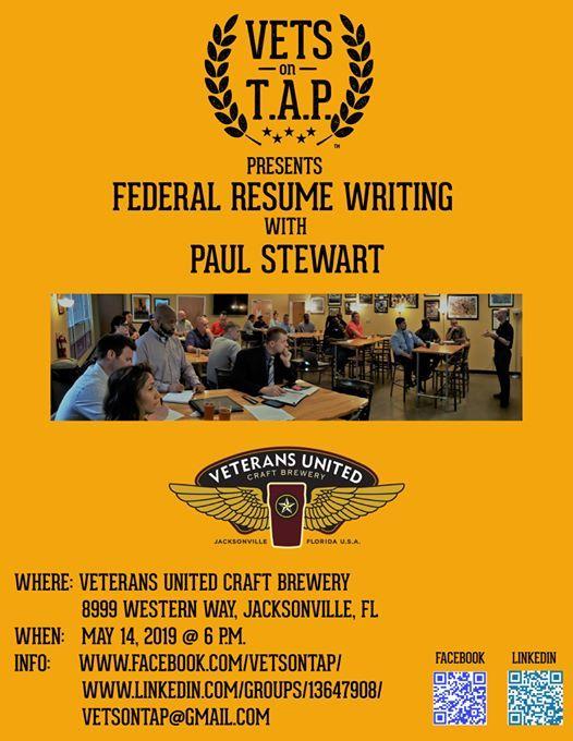 Vets On Tap Federal Resume Writing Workshop At Veterans