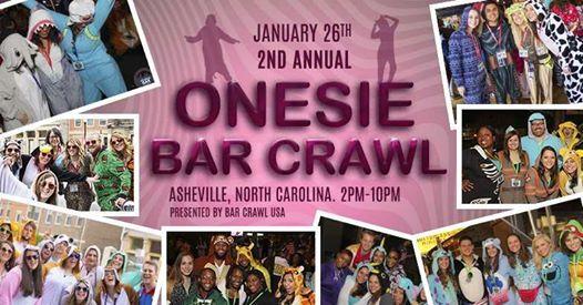 2nd Annual Onesie Bar Crawl Asheville
