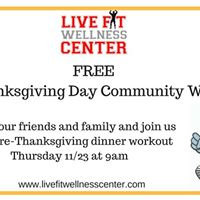 Pre-Thanksgiving Day Community Workout