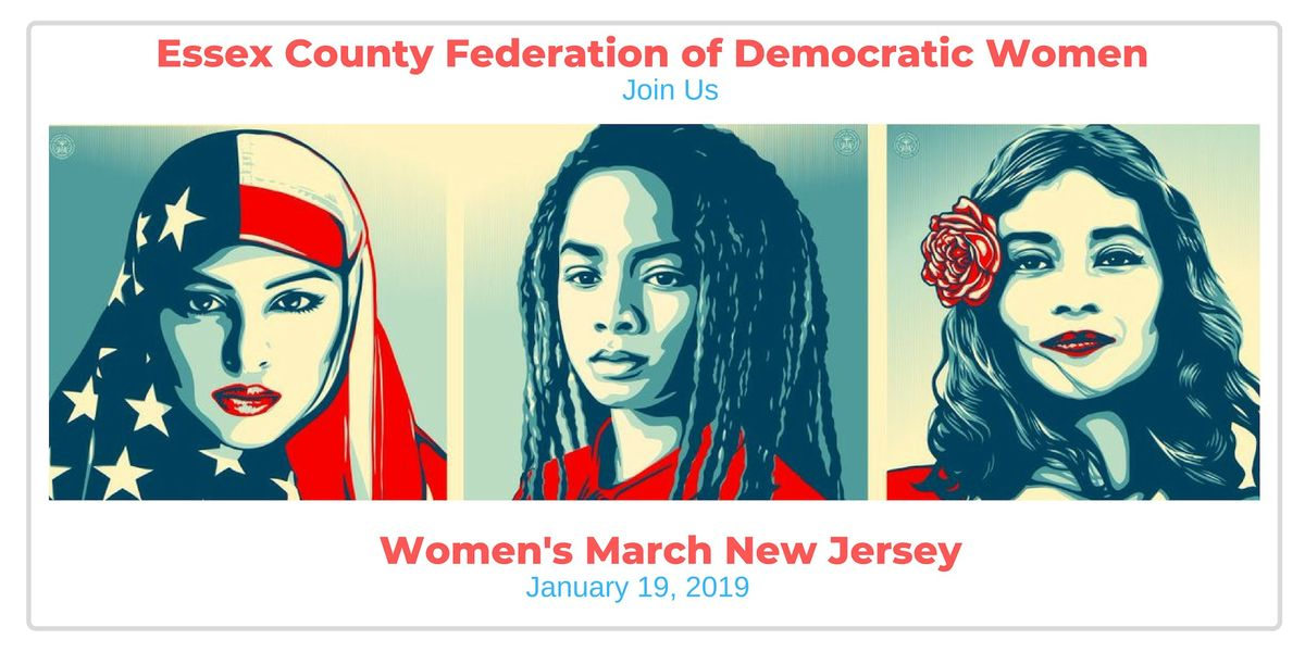 Essex County Federation of Democratic Women Supports NJ Womens March