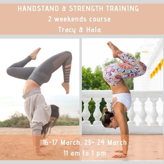 Handstand and Strength Training- Tracy and Hala