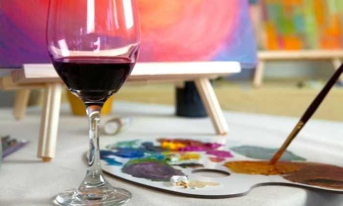 Paint & Sip with Live Art Auction