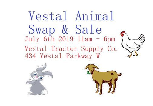 Vestal Animal swap & sale at Tractor Supply Co , Vestal