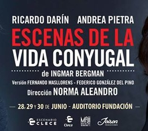 Ricardo Darn y Andrea Pietra en Rosario