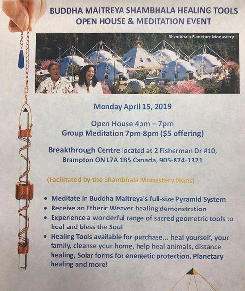 Buddha Maitreya Shambala Healing Tools Open House and