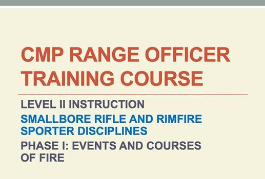 CMP Range Officer Training Course Level II at Camp Perry