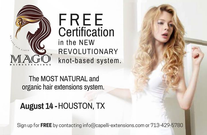 Free Mago Hair Extensions Certification At Salon Vive Houston