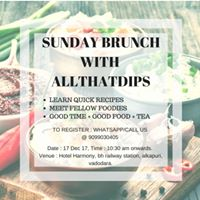 Sunday Brunch WITH Allthatdips