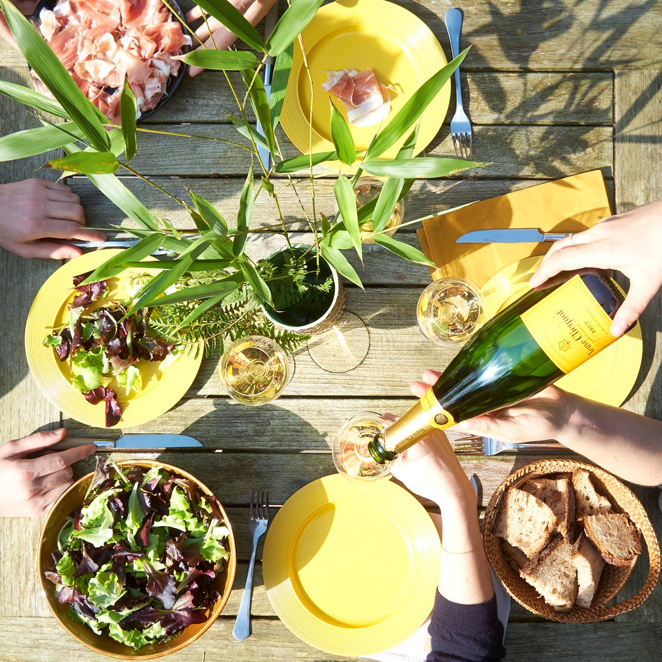Summer Champagne Dinner with Veuve Clicquot