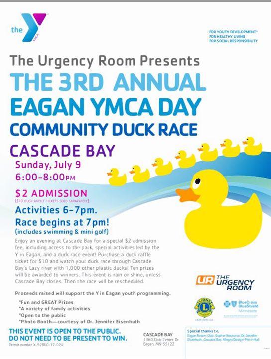 The Urgency Room Presents: The 3rd Annual Eagan YMCA Community ...