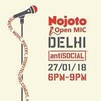 Nojoto Open Mic Delhi 6.0 at antiSOCIAL
