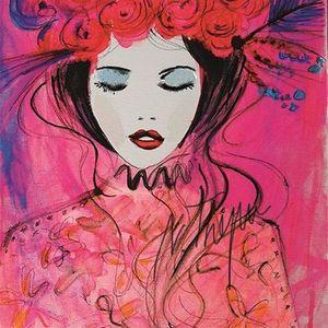 ArtNight Blumenmdchen in Pink am 28042019 in Heidelberg