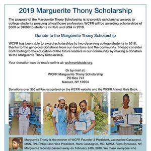 2019 Marguerite Thony Scholarship Fundraiser