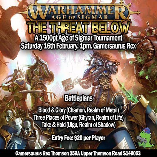 Warhammer Age of Sigmar The Threat Below (1500pt Tournament)