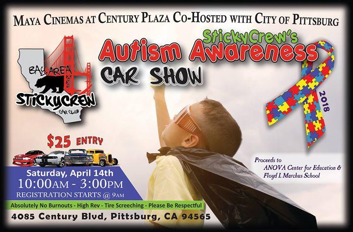 StickyCrews Autism Awareness Car Show At Century Blvd - Pittsburg ca car show